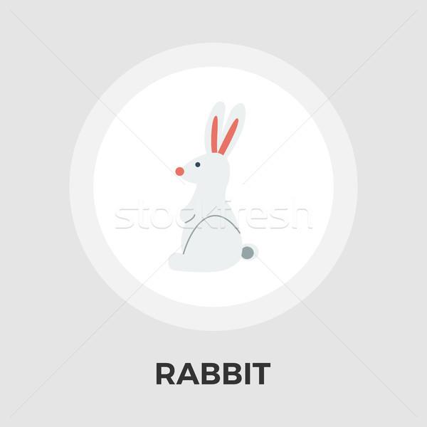 Tavşan oyuncak vektör ikon yalıtılmış beyaz Stok fotoğraf © smoki