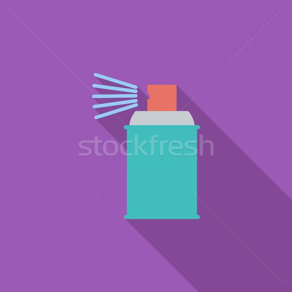Spray vegyszerek ikon vektor hosszú árnyék Stock fotó © smoki