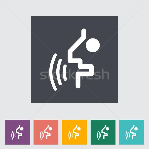 Voz reconhecimento botão homem projeto pintura Foto stock © smoki