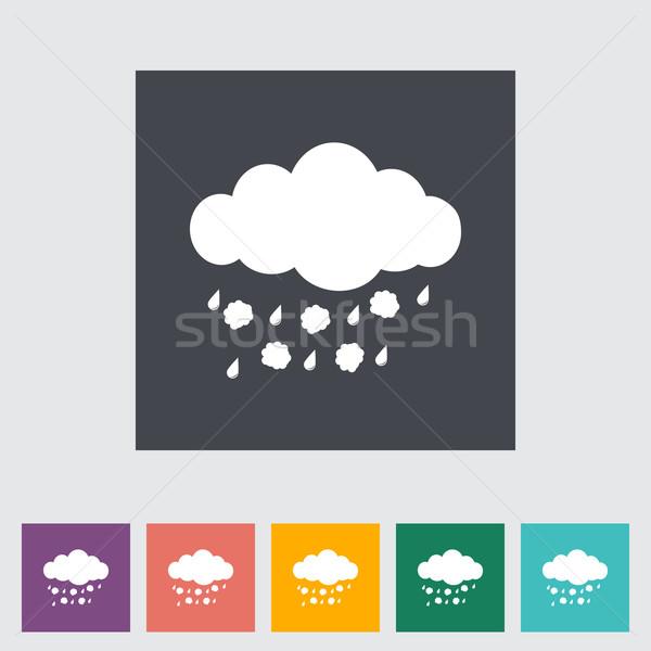 Hagel single icon. Vector illustration. Stock photo © smoki