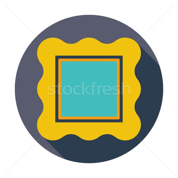 Cadre photo couleur icône design fond cadre Photo stock © smoki