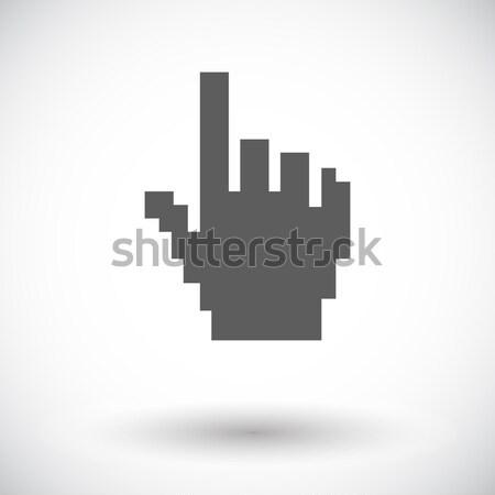 Hand cursor kleur icon business technologie Stockfoto © smoki