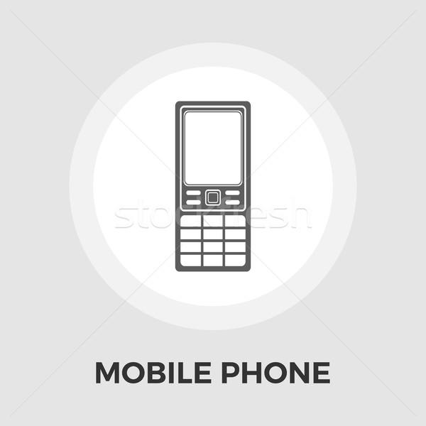 Phone flat icon Stock photo © smoki