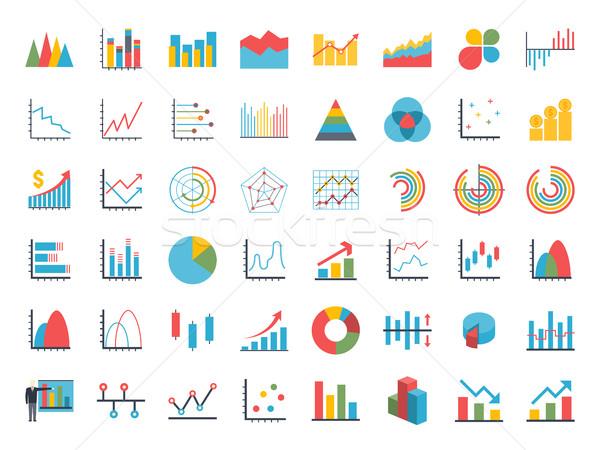ストックフォト: ビジネス · データ · 要素 · バー · パイ