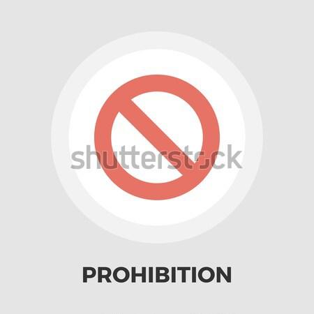 Prohibition icon flat Stock photo © smoki