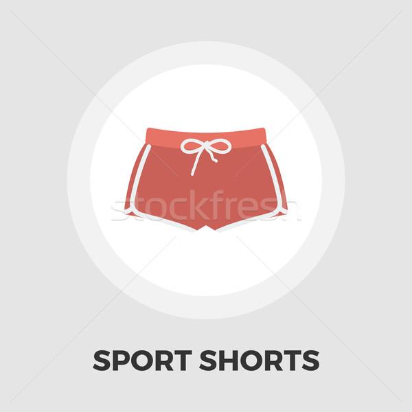 Sportowe szorty ikona wektora odizolowany biały Zdjęcia stock © smoki