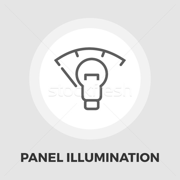 Car panel illumination icon flat Stock photo © smoki