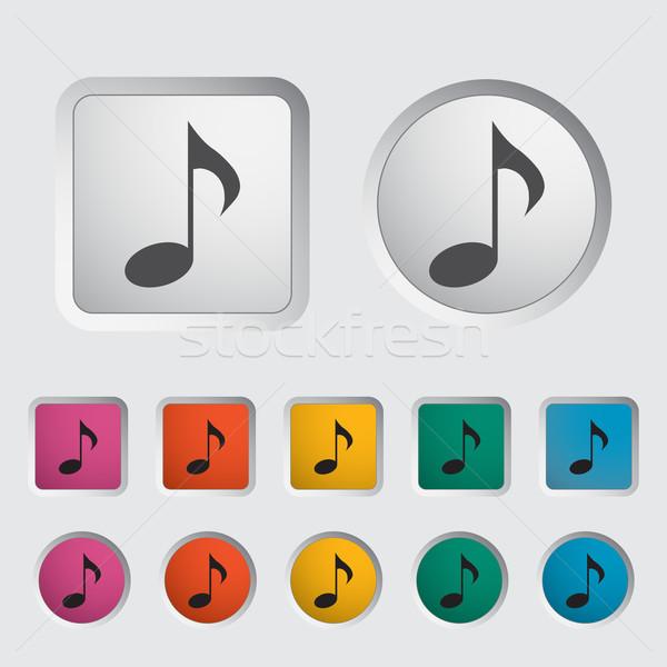 Stockfoto: Nota · icon · muziek · symbolen · eps · kunst