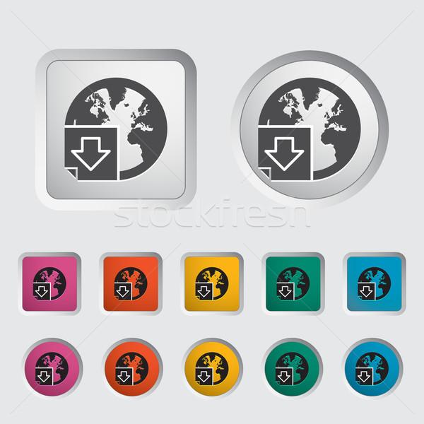 скачать файла икона интернет дизайна земле Сток-фото © smoki