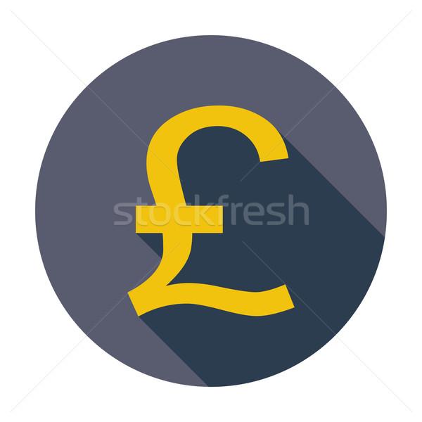 фунт икона цвета торговых знак Живопись Сток-фото © smoki