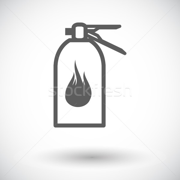 Fire extinguisher icon. Stock photo © smoki