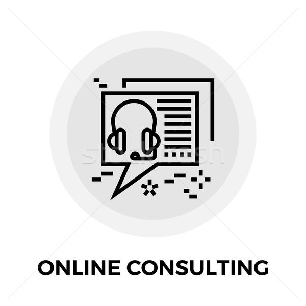 Online Consulting Line Icon Stock photo © smoki