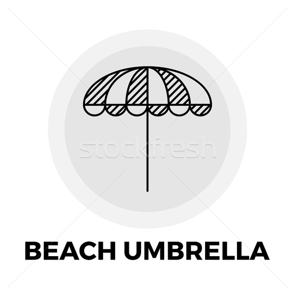 Parasol icon vector afbeelding object lijn Stockfoto © smoki