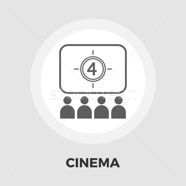 Cinema flat icon Stock photo © smoki