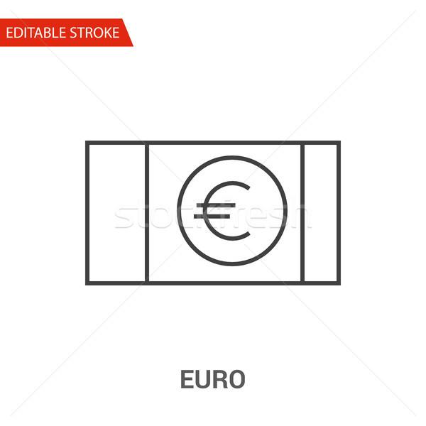 Euro Icon. Thin Line Vector Illustration Stock photo © smoki