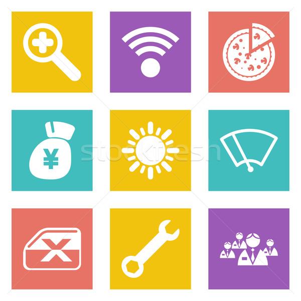Icons for Web Design set 46 Stock photo © smoki