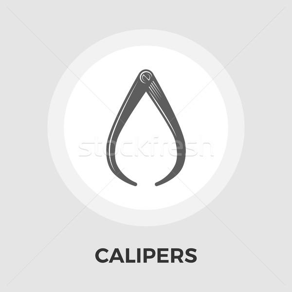 Calipers Vector Flat Icon Stock photo © smoki