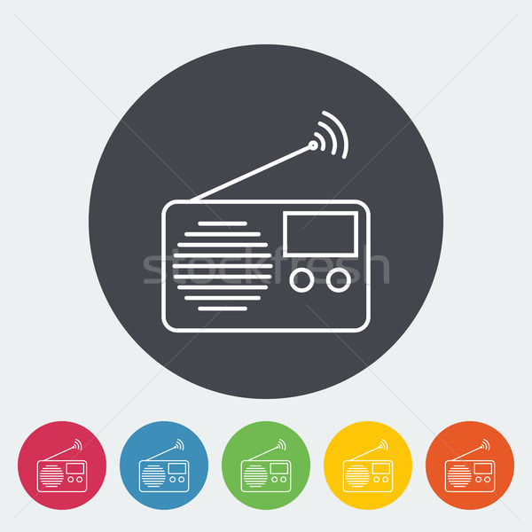 Radio icon Stock photo © smoki