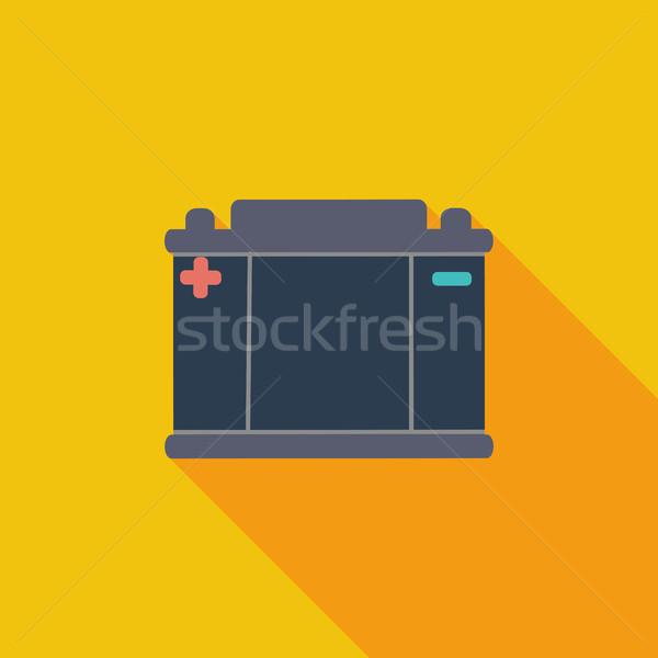 Battery flat icon. Stock photo © smoki