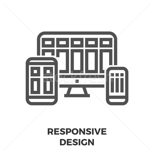 Responsive Design Line Icon Stock photo © smoki