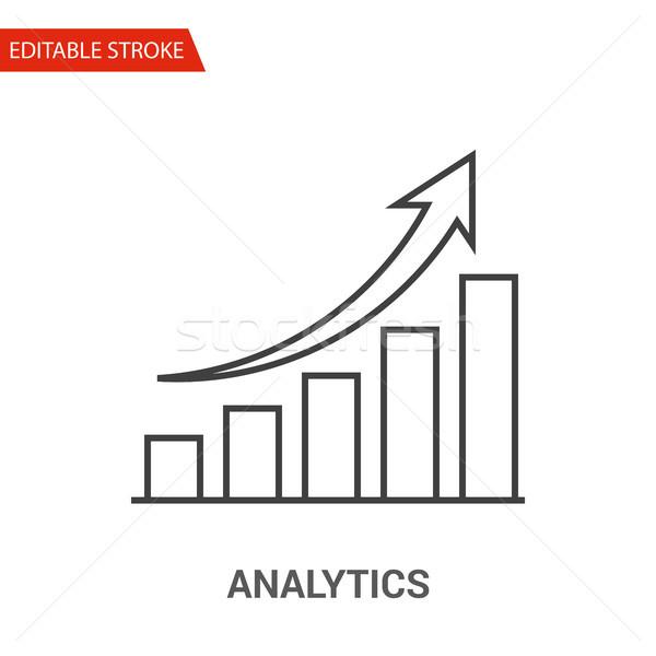 Analytics Icon. Thin Line Vector Illustration Stock photo © smoki