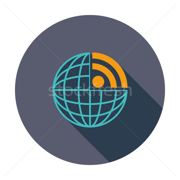 Rss икона цвета компьютер мира земле Сток-фото © smoki