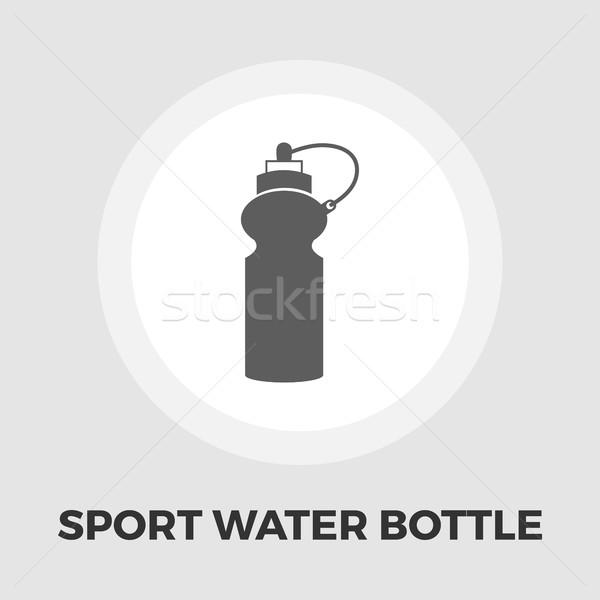 Sport veldfles icon vector geïsoleerd witte Stockfoto © smoki