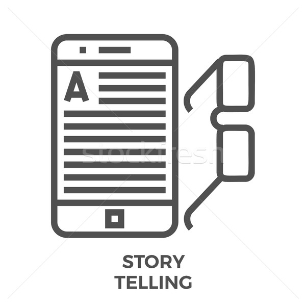 Story telling line icon Stock photo © smoki