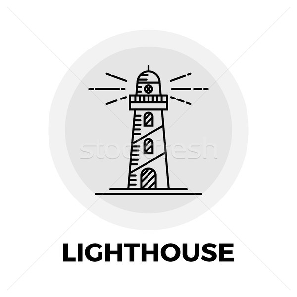 Lighthouse Line Icon Stock photo © smoki