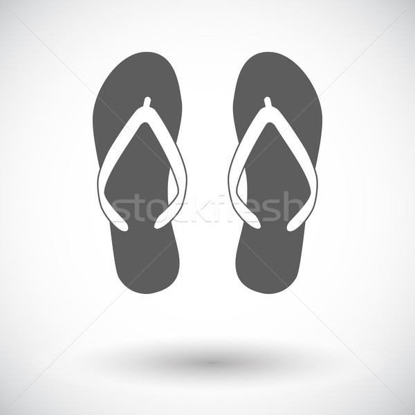Strand slippers icon witte mode zomer Stockfoto © smoki