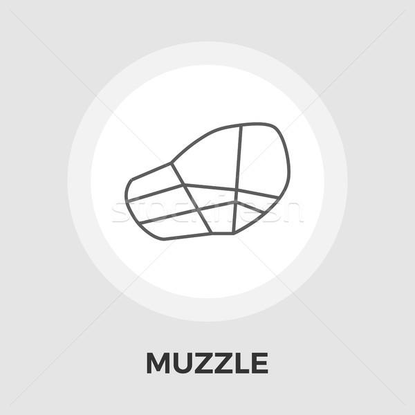 Muzzle vector flat icon Stock photo © smoki