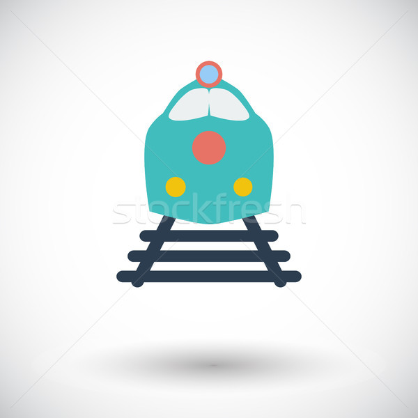 Trem ícone branco negócio estrada tecnologia Foto stock © smoki
