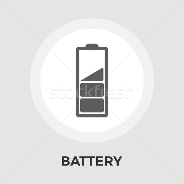 Pil ikon vektör yalıtılmış beyaz düzenlenebilir Stok fotoğraf © smoki
