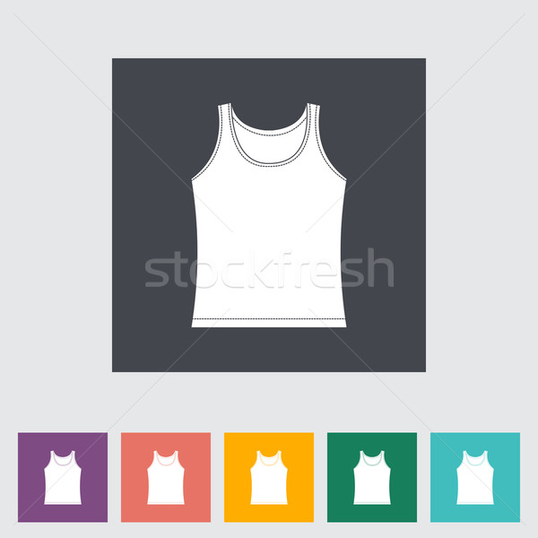 Singlet single flat icon. Stock photo © smoki