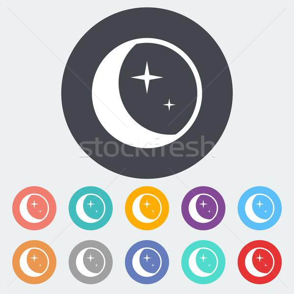 Moon icon. Stock photo © smoki