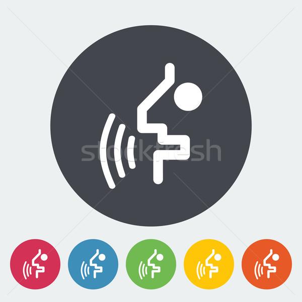 Voz reconocimiento botón icono círculo hombre Foto stock © smoki