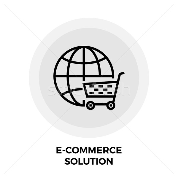 E-commerce Solution Line Icon Stock photo © smoki