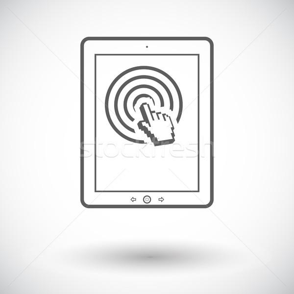 Icon witte hand technologie kunst Stockfoto © smoki