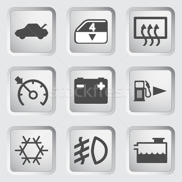 Araba gösterge paneli simgeler kontrol paneli su soyut Stok fotoğraf © smoki