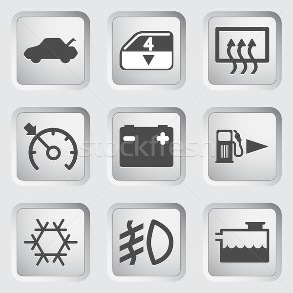 Car Dashboard icons Stock photo © smoki