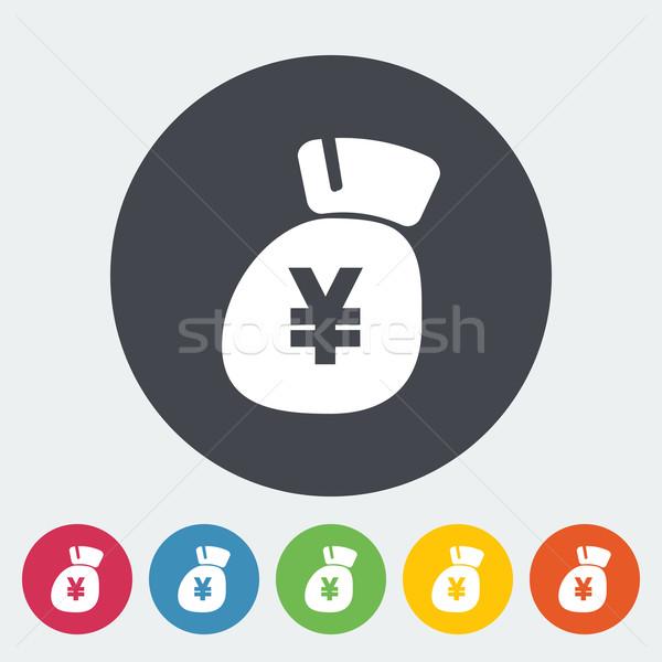 Yen ikon kör üzlet absztrakt terv Stock fotó © smoki