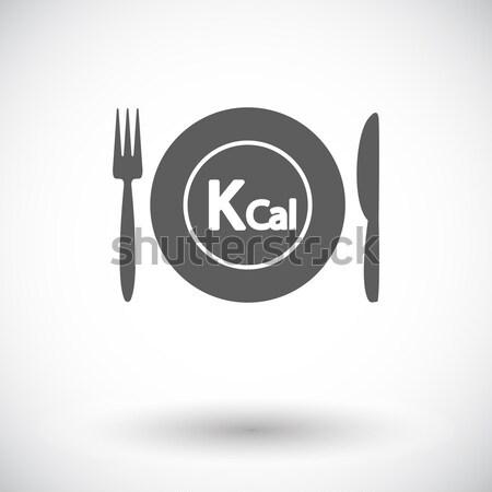 Cutlery single flat icon. Stock photo © smoki
