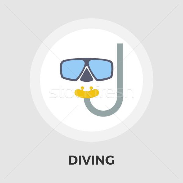 Diving Vector Flat Icon Stock photo © smoki