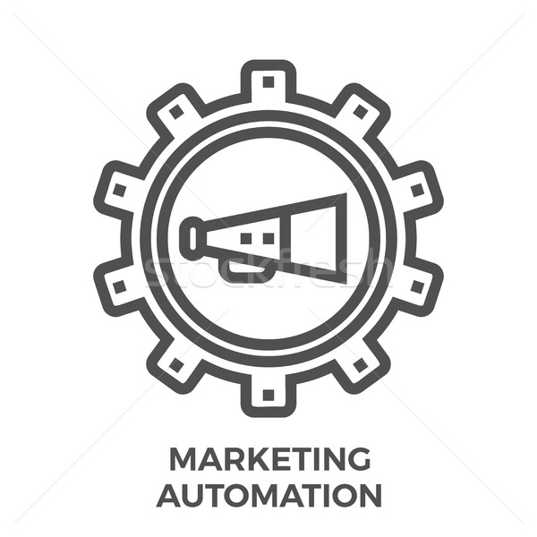 Marketing automation icon Stock photo © smoki