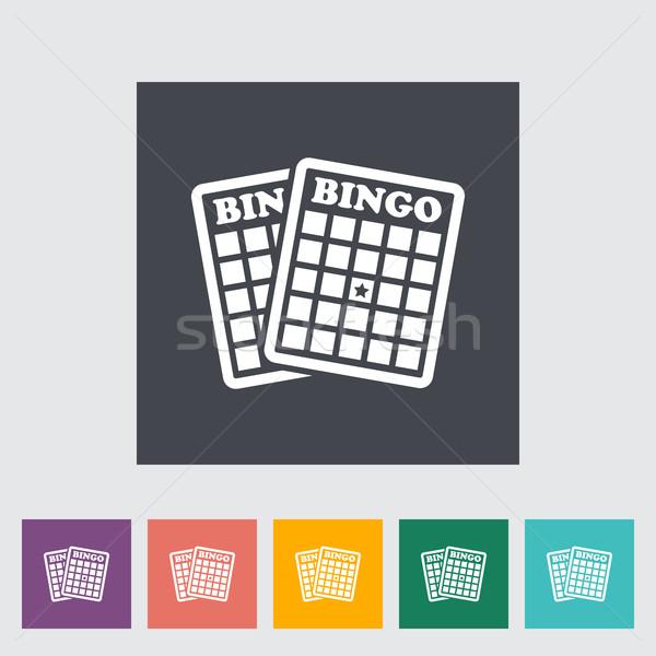 Bingo icon knop kunst leuk zwarte Stockfoto © smoki