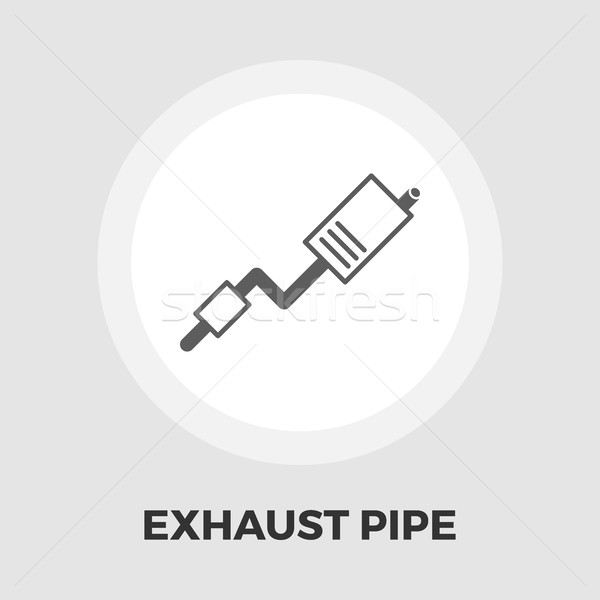Egzoz boru ikon vektör yalıtılmış beyaz Stok fotoğraf © smoki