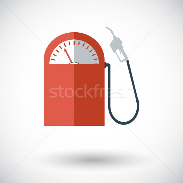 Ikon benzinkút fehér terv kék festmény Stock fotó © smoki