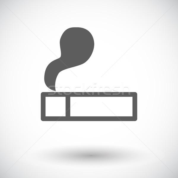 Isqueiro ícone branco fumar assinar preto Foto stock © smoki
