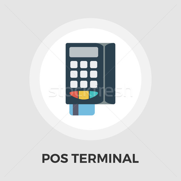 POS terminal flat icon Stock photo © smoki