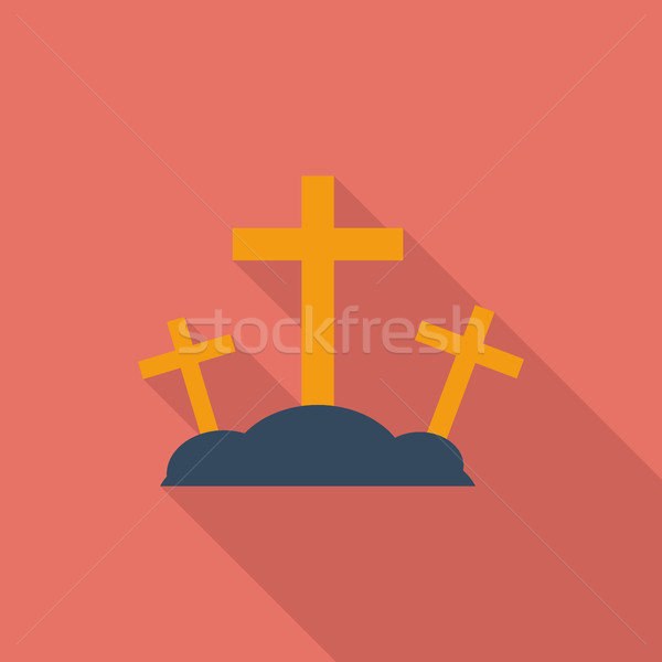 Calvary single icon. Stock photo © smoki